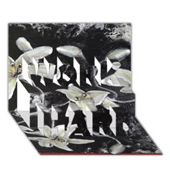 Black And White Lilies Work Hard 3d Greeting Card (7x5)