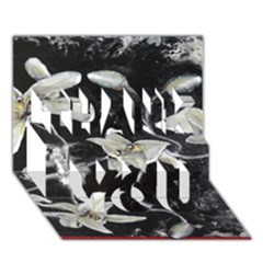 Black and White Lilies THANK YOU 3D Greeting Card (7x5)