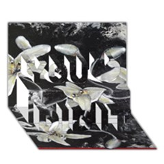 Black And White Lilies You Did It 3d Greeting Card (7x5)