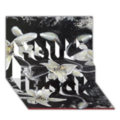 Black and White Lilies You Rock 3D Greeting Card (7x5)