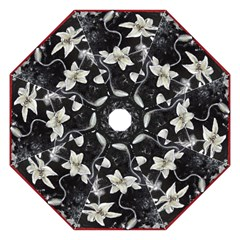Black And White Lilies Hook Handle Umbrellas (small)