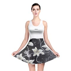 Black And White Lilies Reversible Skater Dresses