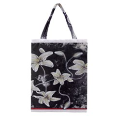 Black and White Lilies Classic Tote Bags