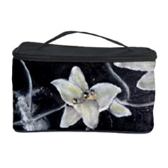 Black and White Lilies Cosmetic Storage Cases