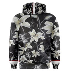 Black and White Lilies Men s Pullover Hoodies