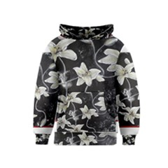 Black and White Lilies Kid s Pullover Hoodies