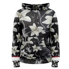 Black And White Lilies Women s Pullover Hoodies
