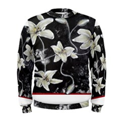 Black and White Lilies Men s Sweatshirts
