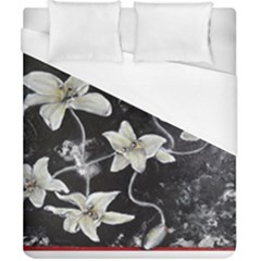 Black And White Lilies Duvet Cover Single Side (double Size)