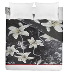 Black And White Lilies Duvet Cover (full/queen Size)