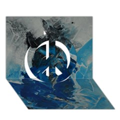 Blue Abstract Peace Sign 3D Greeting Card (7x5)