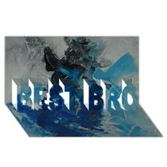Blue Abstract BEST BRO 3D Greeting Card (8x4)