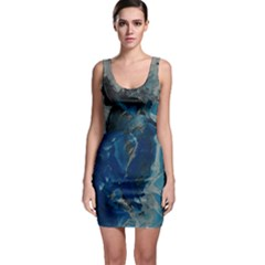 Blue Abstract Bodycon Dresses