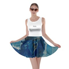 Blue Abstract Skater Dresses