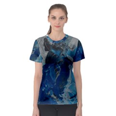 Blue Abstract Women s Sport Mesh Tees