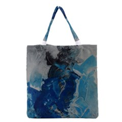 Blue Abstract Grocery Tote Bags