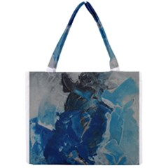 Blue Abstract Tiny Tote Bags