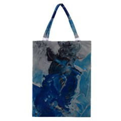 Blue Abstract Classic Tote Bags