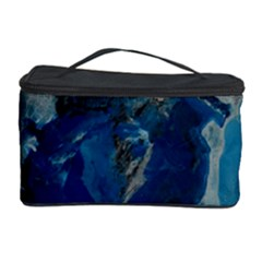 Blue Abstract Cosmetic Storage Cases