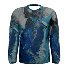 Blue Abstract Men s Long Sleeve T-shirts