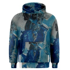 Blue Abstract Men s Pullover Hoodies