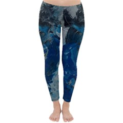 Blue Abstract Winter Leggings