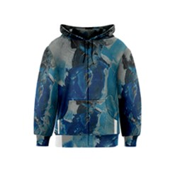 Blue Abstract Kids Zipper Hoodies