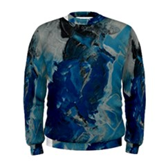 Blue Abstract Men s Sweatshirts