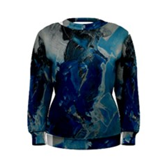 Blue Abstract Women s Sweatshirts