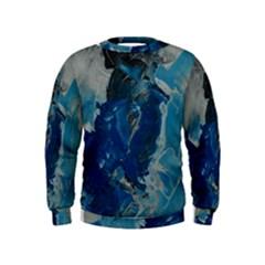 Blue Abstract Boys  Sweatshirts