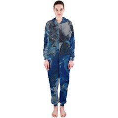 Blue Abstract Hooded Jumpsuit (Ladies)