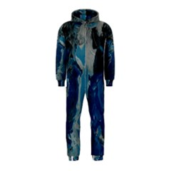 Blue Abstract Hooded Jumpsuit (Kids)