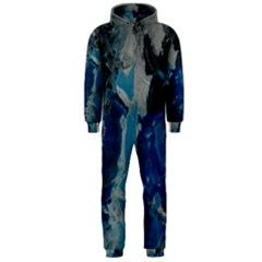 Blue Abstract Hooded Jumpsuit (Men)