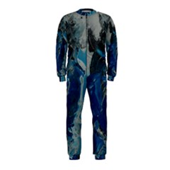 Blue Abstract Onepiece Jumpsuit (kids)