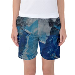 Blue Abstract Women s Basketball Shorts