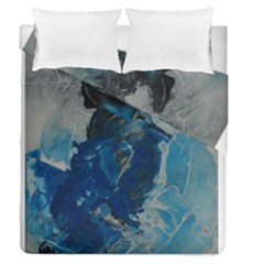 Blue Abstract Duvet Cover (full/queen Size)