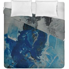 Blue Abstract Duvet Cover (king Size)