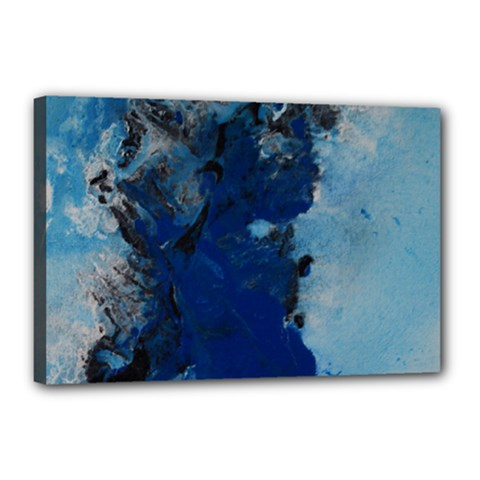 Blue Abstract No 2 Canvas 18  X 12