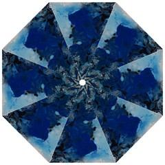 Blue Abstract No 2 Folding Umbrellas