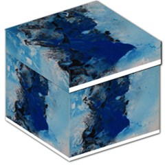 Blue Abstract No.2 Storage Stool 12