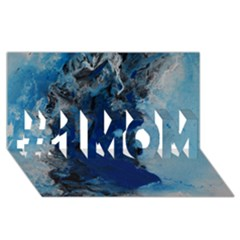 Blue Abstract No.2 #1 MOM 3D Greeting Cards (8x4)