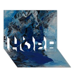 Blue Abstract No.2 HOPE 3D Greeting Card (7x5)