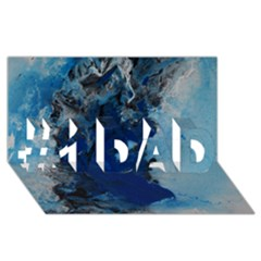 Blue Abstract No.2 #1 DAD 3D Greeting Card (8x4)
