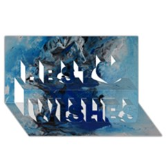 Blue Abstract No.2 Best Wish 3D Greeting Card (8x4)