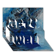 Blue Abstract No.2 Get Well 3D Greeting Card (7x5)