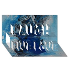 Blue Abstract No.2 Laugh Live Love 3D Greeting Card (8x4)