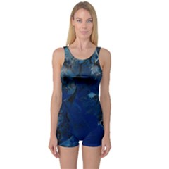Blue Abstract No.2 Women s Boyleg One Piece Swimsuits