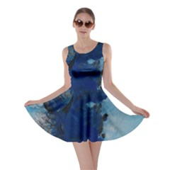 Blue Abstract No.2 Skater Dresses