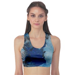 Blue Abstract No.2 Sports Bra