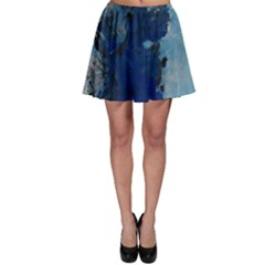 Blue Abstract No.2 Skater Skirts